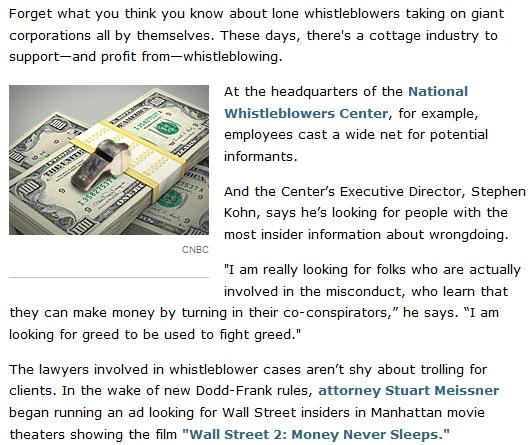 Stuart Meissner looks for whistleblowers at screenings of Wall Street 2 Money Never Sleeps